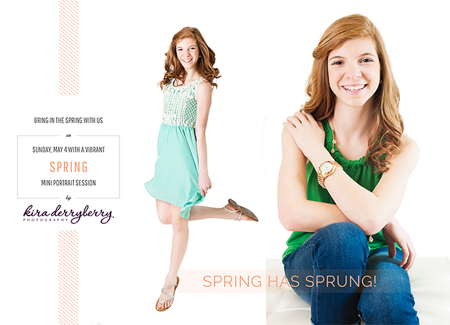 Spring Mini Sessions | Sunday May 4th at Kira Derryberry Photography